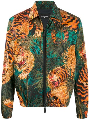 DSQUARED2 Tiger Print Jacket