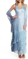 Komarov Women's Embellished Long A-Line Dress