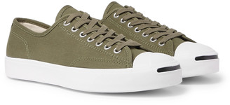 Converse Jack Purcell OX Rubber-Trimmed Canvas Sneakers - Men - Green