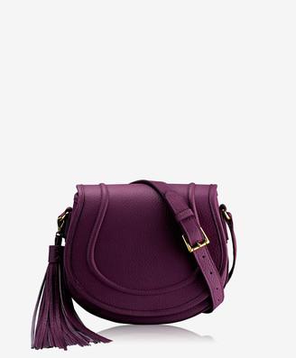 GiGi New York Jenni Saddle Bag, Wine Pebble Grain