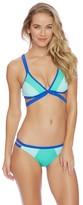 Nautica Shades Of The Sea Color Block Halter Bikini Top