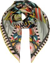 Givenchy Multicolor Printed Silk Square Scarf
