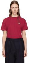 MAISON KITSUNÉ Red Fox Head Patch T-shirt