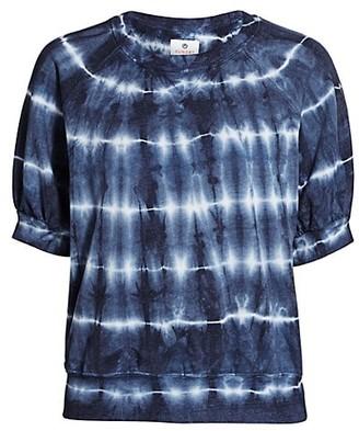 Sundry Puff-Sleeve Tie-Dye T-Shirt