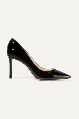 Jimmy Choo Romy 85 Patent-leather Pumps - Black