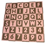 Tadpoles Tadpole Mat 36 Piece - ABC (Pink/Brown)