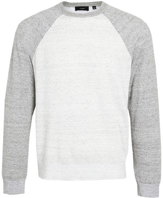 Vince Long Sleeve Baseball Crew Neck Sweater