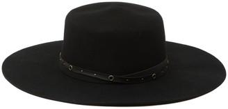 Frye Felt Boater with Studded Belt Hat
