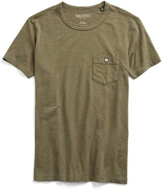 Todd Snyder Made in L.A. Slub Jersey Pocket T-Shirt in Olive