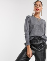 Love Moschino logo wool blend jumper