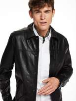Scotch & Soda Leather Shirt Jacket