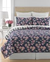 Martha Stewart Collection CLOSEOUT! Martha Stewart Collection Carnation Field Full/Queen Quilt