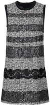 Giambattista Valli tweed and lace panelled dress