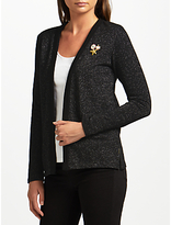 Maison Scotch Metallic Fibre Cardigan Blazer, Black
