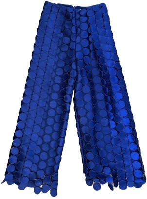 SOLACE London Blue Cloth Trousers for Women
