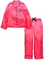 Very Satin Embroidered Love Pyjamas