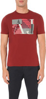 Armani Jeans Block-print cotton t-shirt