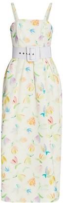 Rosie Assoulin Artichoke Hearts Sleeveless Midi Dress