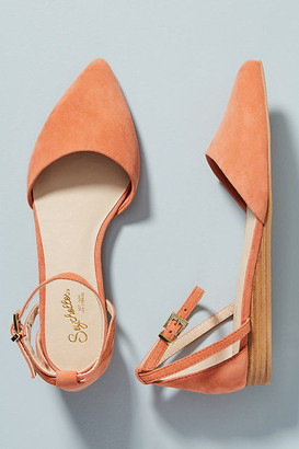 Seychelles Ankle Strap Flats By in Orange Size 7