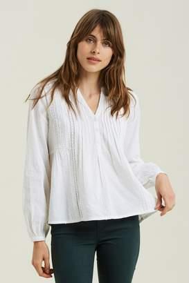 Fat Face Womens FatFace Natural Penny Pintuck Popover Shirt - Natural