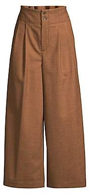 Piazza Sempione Women's Wide-Leg Prince of Wales Trousers