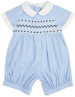 Rachel Riley Striped Embroidered Playsuit (3-18 Months)