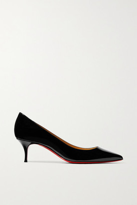Christian Louboutin Kate 55 Patent-leather Pumps - Black