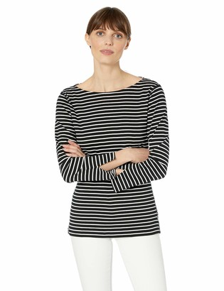 Chaps Women's Two-Tone Cotton Top