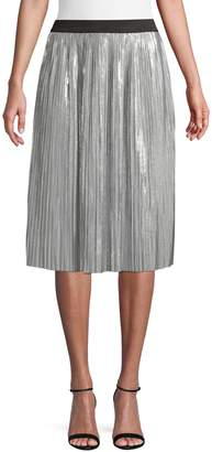 INC International Concepts Petite Pleated Metallic Skirt