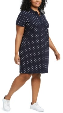 Tommy Hilfiger Plus Size Polka-Dot Polo Dress