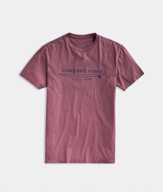 Vineyard Vines Garment-Dyed Simple Surf Logo Short-Sleeve Island Tee