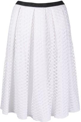 NO KA 'OI Geometric-Pattern Midi Skirt