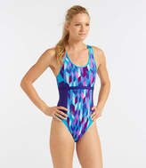 L.L. Bean L.L.Bean Active Swim Collection, Racer-Back Tanksuit Print