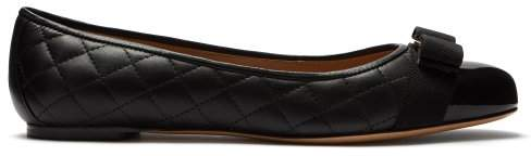 Salvatore Ferragamo Varina Quilted Leather Ballet Flats - Womens - Black
