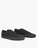 Common Projects Dark Grey Wool Achilles Sneakers