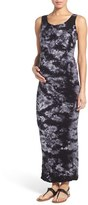Tees by Tina Women's 'Lattice' Tie Dye Textured Maternity Maxi Dress