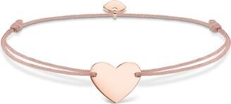 Thomas Sabo Women-Bracelet Little Secrets 925 Sterling silver 18k rose gold plating beige LS005-597-19-L20v