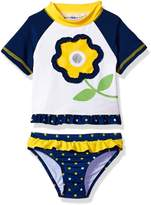 Wippette Baby Toddler Girls' Flower Rashguard Set