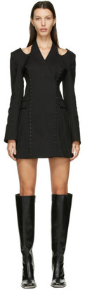Dion Lee Black Halter Tie Blazer Dress