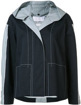 Paco Rabanne hooded anorak coat - women - Cotton/Polyethylene/Polyurethane - 34