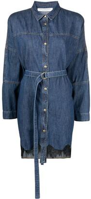 Philosophy di Lorenzo Serafini Button-Up Denim Shirt Dress