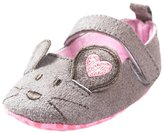 Leapfrog Newborn Baby Girl Princess soft Soled Mouse Pattern First Walker Toddler Shoes 6-12M