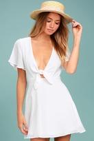 LuLu*s Sea Day White Skater Dress