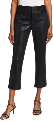 Alice + Olivia Stacey Faux Leather Slim Ankle Pants