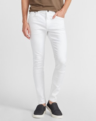 Express Super Skinny White Hyper Stretch Jeans