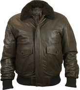 Forzieri Men's Dark Brown Chevrette Two-Pocket Jacket w/Fur Collar