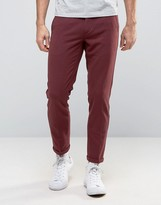 Lindbergh Pants With Elasticated Waist In Burgundy