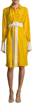 Max Mara Tazzina Silk Side Split Shirtdress