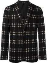 Z Zegna plaid single breasted blazer