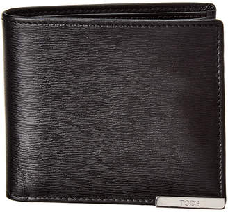 Tod's Metal Plate Leather Wallet